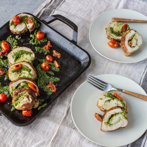 Pork Roulade with Tomatoes and Pesto