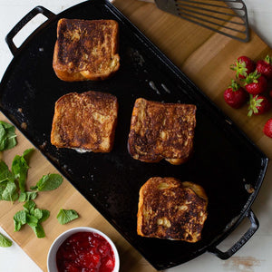 Mascarpone Stuffed French Toast with Strawberries and Mint