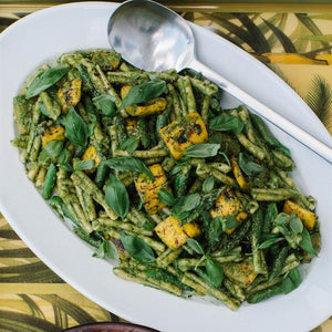 Grilled Courgette Pasta Salad