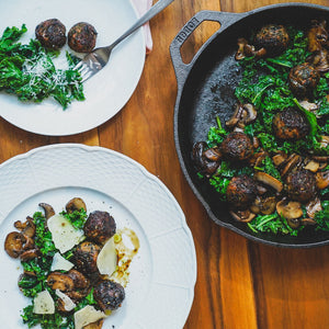 Pork Meatballs with Kale
