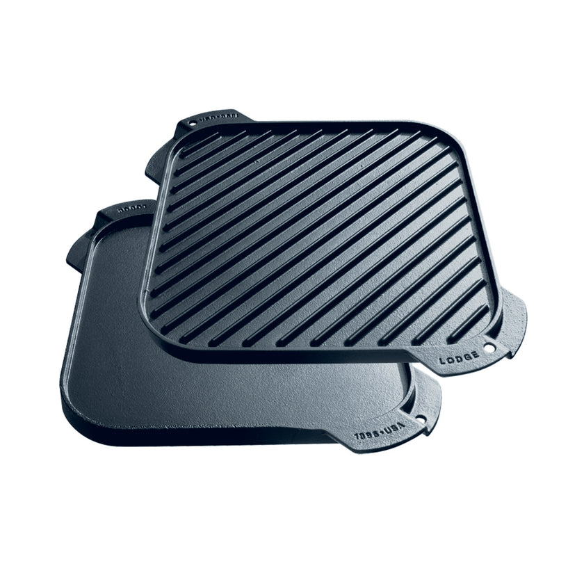 Cast Iron Single Burner Reversible Griddle 26cm