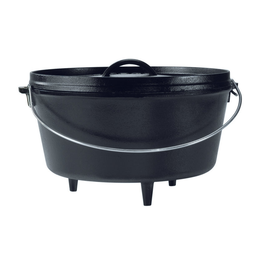 Cast Iron Deep Camp Dutch Oven - 7.6L, 30cm