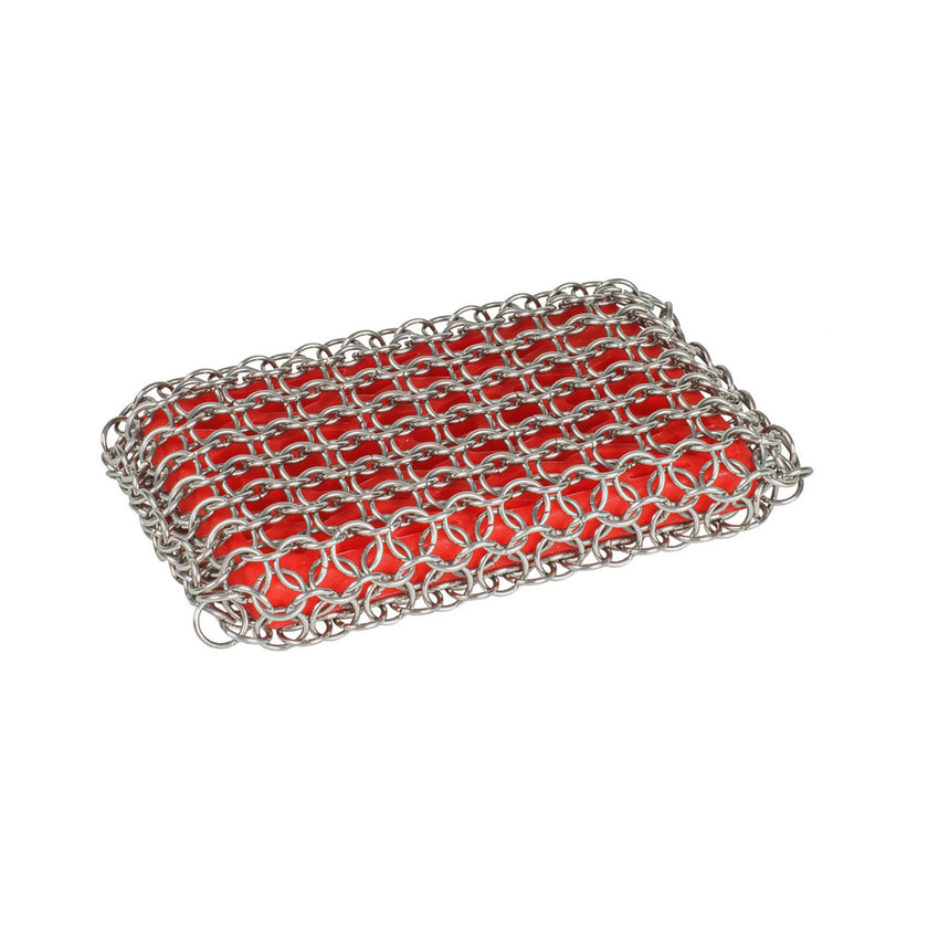 Lodge Chain Mail Scrubbing Pad Red