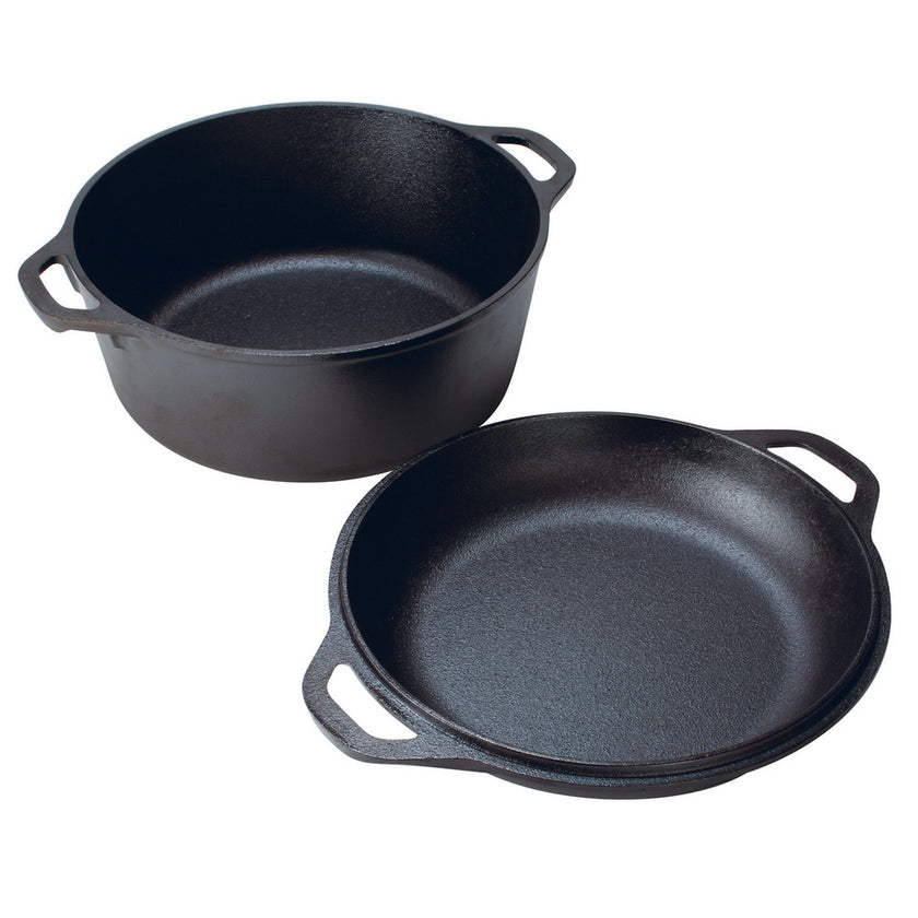 Cast Iron Double Dutch Oven 4.7L