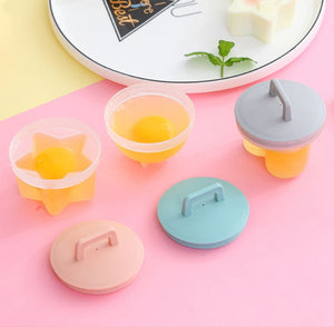 4 PCS/SET Cute Egg Boiler Plastic Egg Poacher Set (+ gift offert)😍