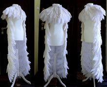 Load image into Gallery viewer, Goose feathered white cape with bolero