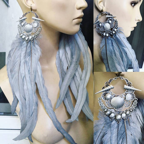 Long bohemian earrings