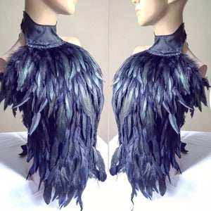 Feathered open back top