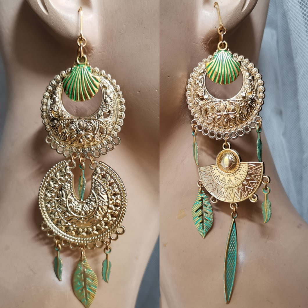 Egyptian Long bohemian earrings