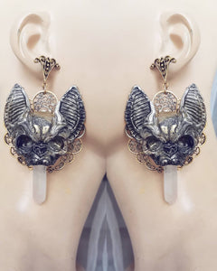 Vampire bat's earrings