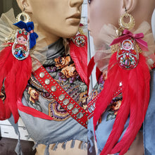 Load image into Gallery viewer, Matryoshka earrings and collar
