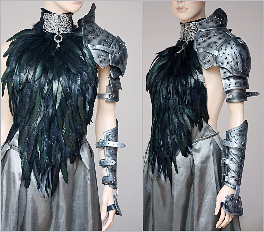 Black Feathered open back dress