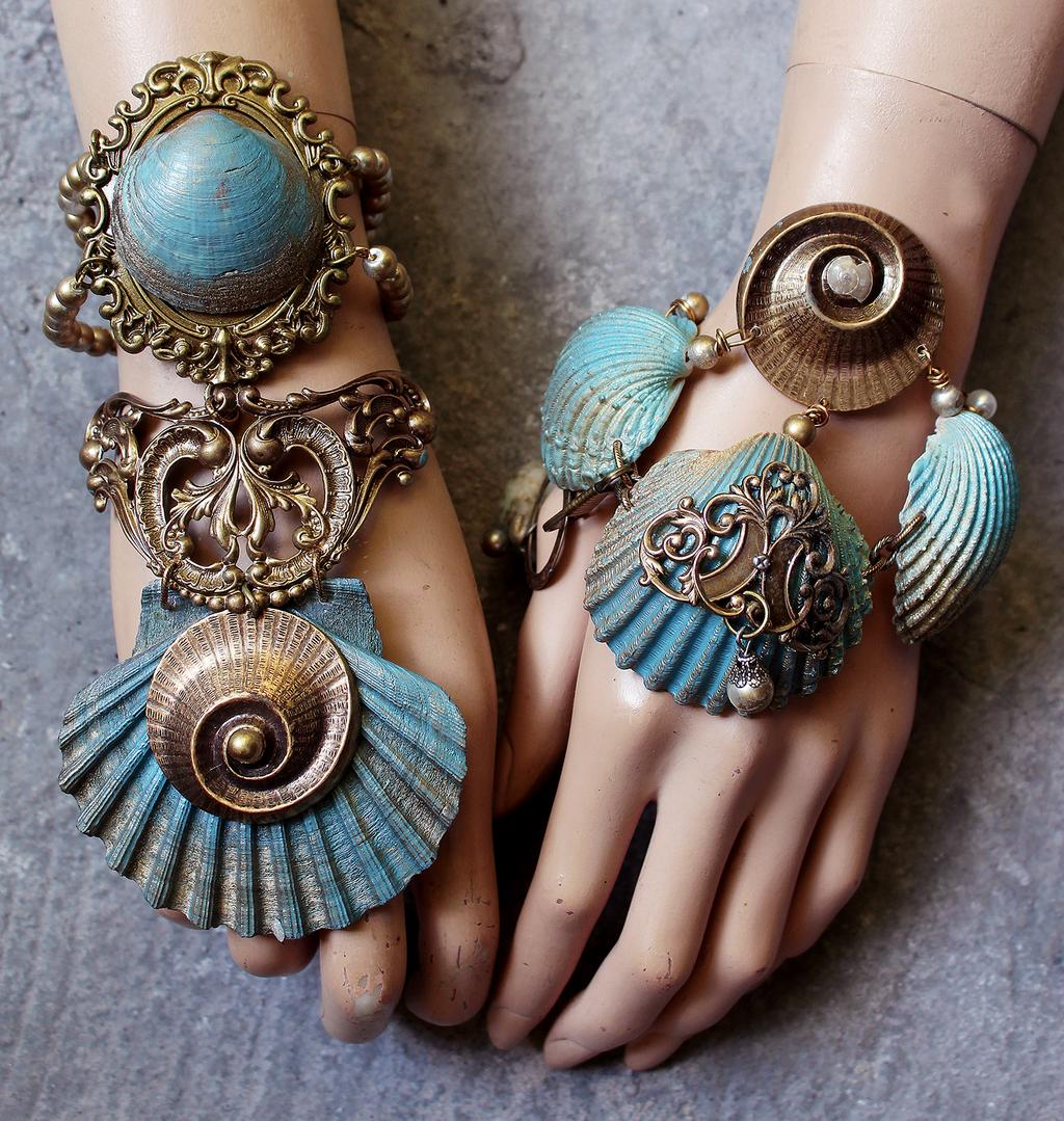 Seashell Mermaid bracelets