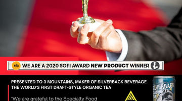 3 Mountains, Maker of The World's First Draft-Style Tea Wins a Sofi™