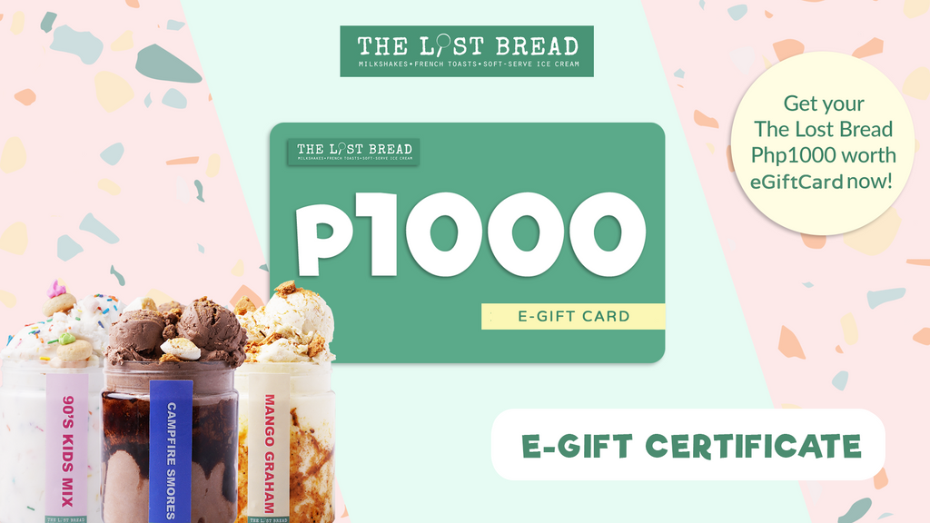 Php1,000 Worth Gift Certificate - The Lost Bread Online