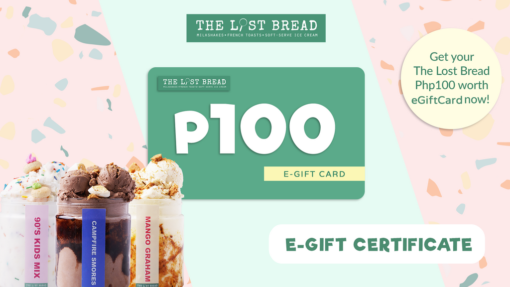 Php100 Worth Gift Certificate - The Lost Bread Online