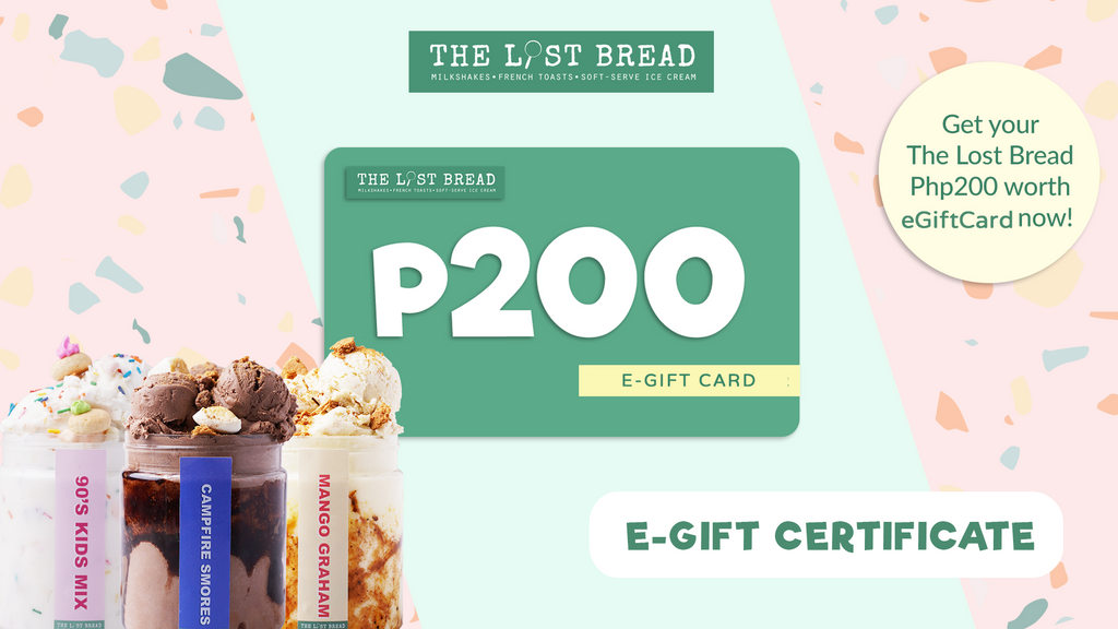 Php200 Worth Gift Certificate - The Lost Bread Online