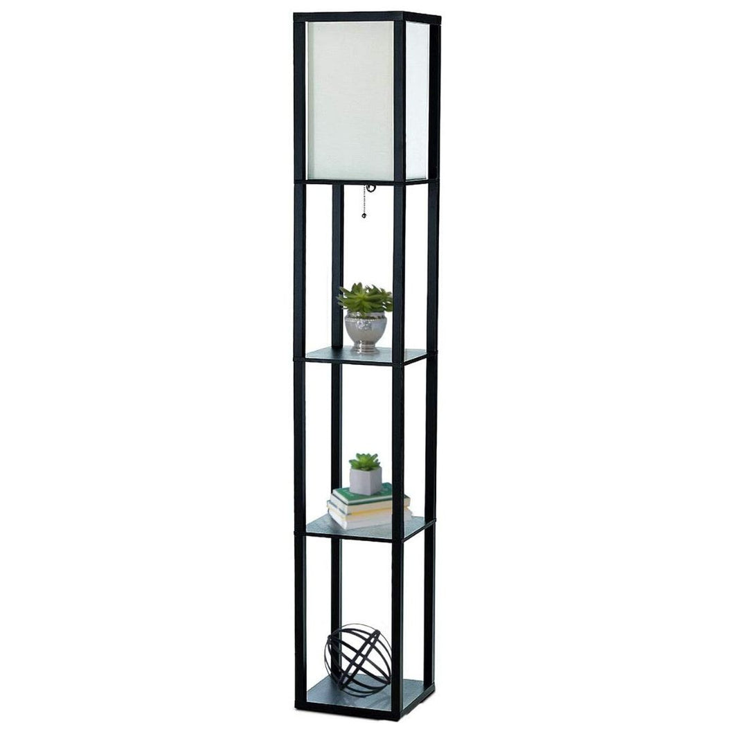 Floor Lamp With Shelves Modern Lights Tall Standing Lamps Industrial Lights Black