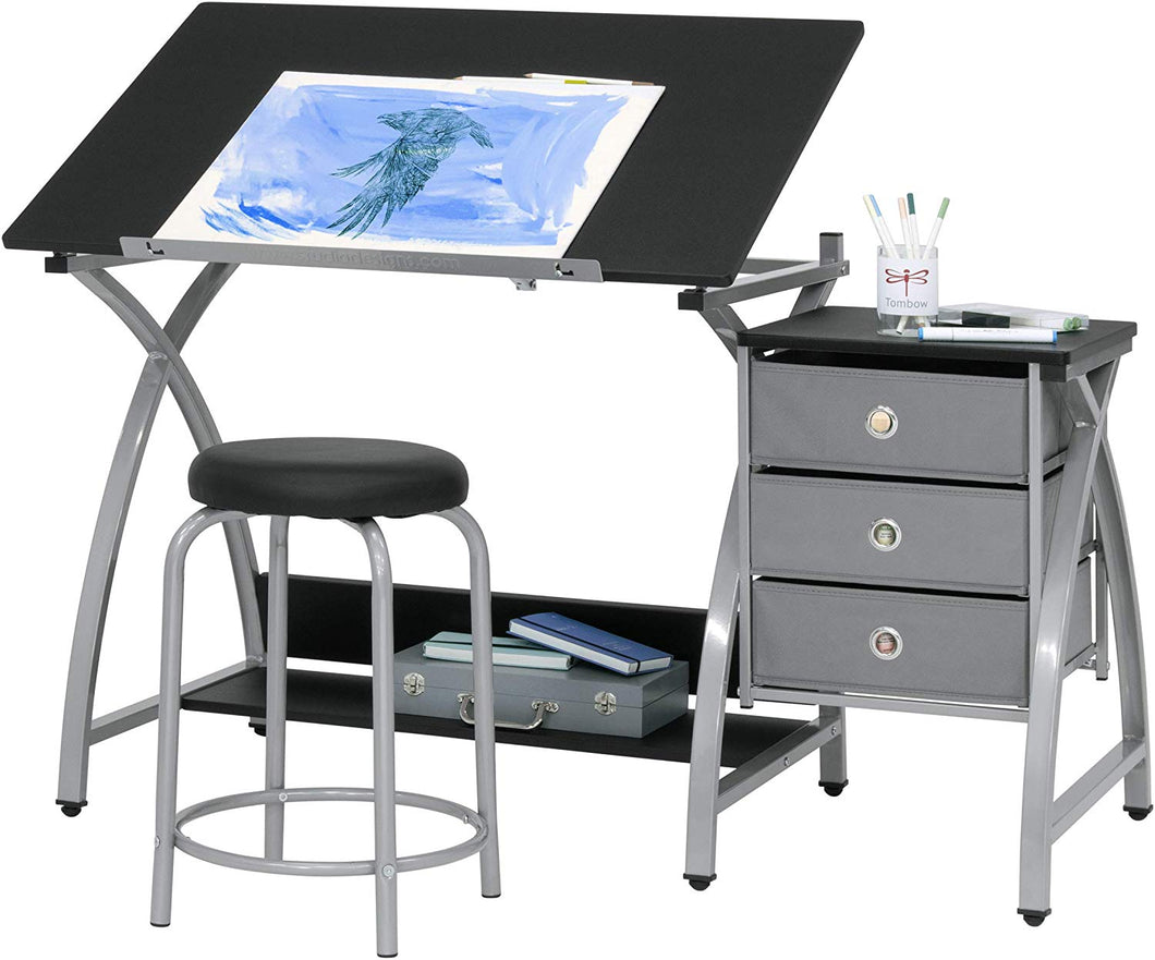 Craft Table Folding With Storage Small Sewing Table