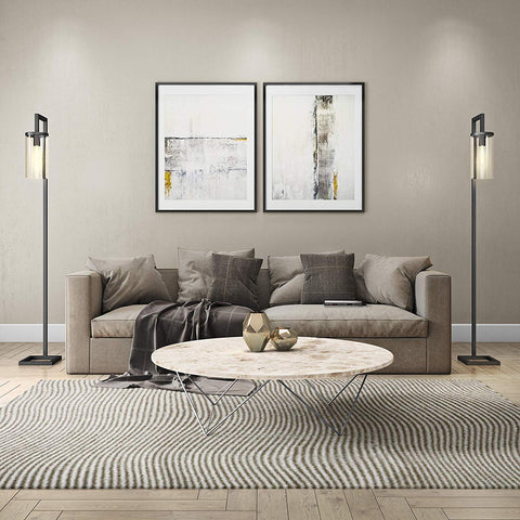Floor Lamp Industrial Modern Standing Tall Lamps Lights Black