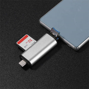 5-in-1 SD Card Reader Micro Memory USB C Android Adapter