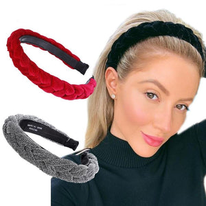 Braided Headband Hair French Hairband With Braids Braid Fake Hair Band