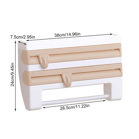 Paper Towel Holder Wall Mount For Kitchen Hanging Rack Plastic Mounted