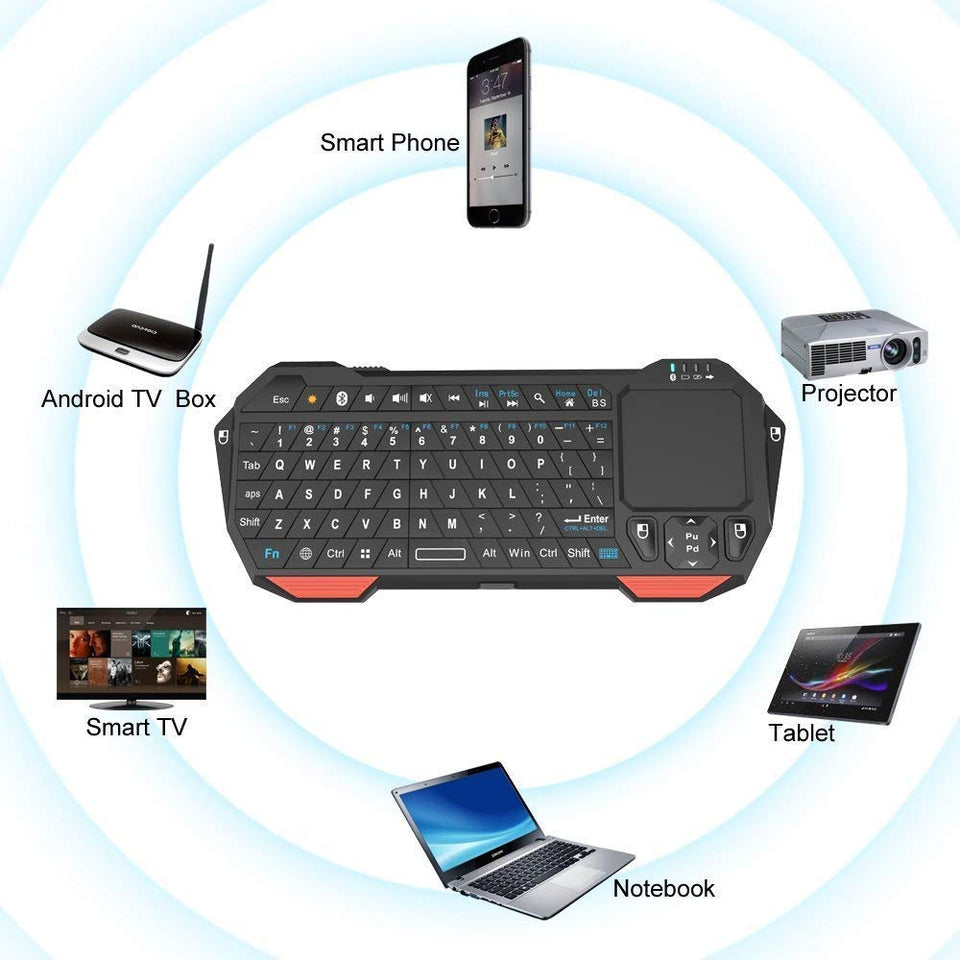 Bluetooth Keyboard For iPad Tablet With Mouse Touchpad Wireless Multi Device Mini