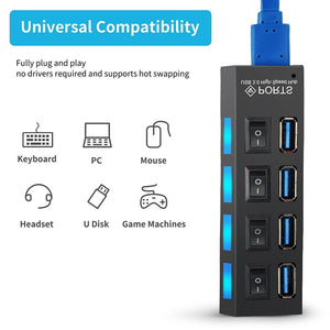 USB Port Hub For 2.0 3.0 Multi Splitter 2 3 Best