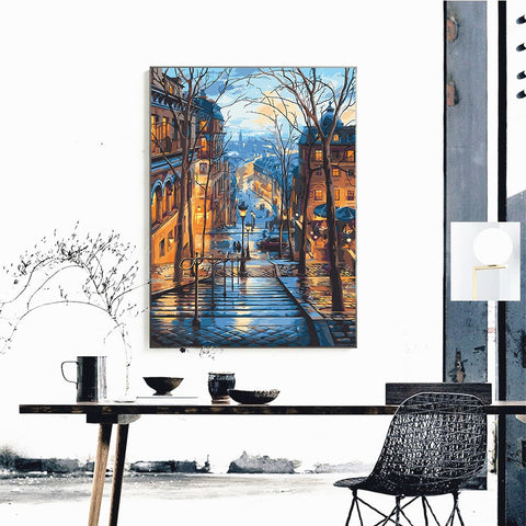 Painting By Numbers For Adults Kits Street Scenery Paint Kids My Kit Set