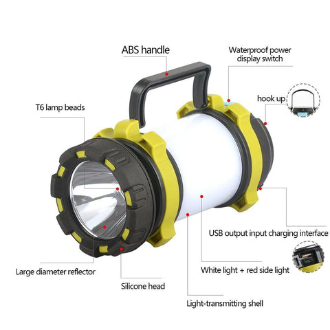 Camping Lantern Flashlight LED Battery Operated And Portable Lights Collapsible