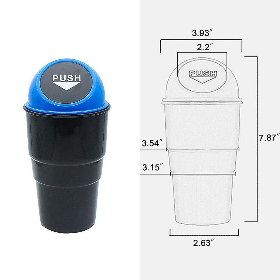 Car Trash Can Mini With Lid Garbage Cans Cup Holder Bin Auto