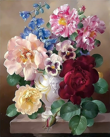 Painting By Numbers Kits For Adults Flowers Kids Paint