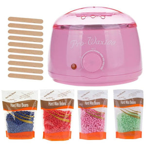 Wax Kit Waxing Beads Machine At Home Professional Hair Removal With 400g Hard Beads Warmer Self Hot Beans Eyebrow Body