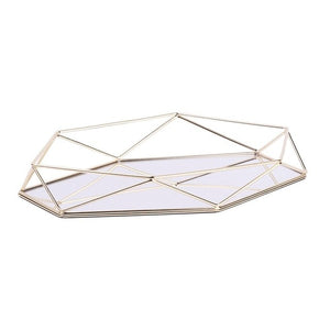 Mirrored Tray Perfume Gold Vanity For Dresser Decorative mirror