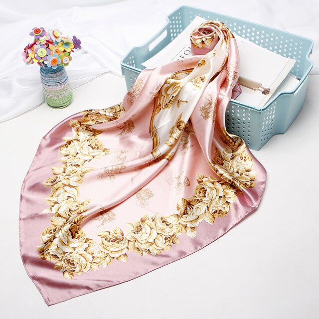 Silk Head Scarf Satin Headscarf For Women