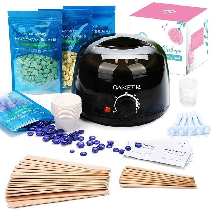 Waxing Kit Wax Beads Machine Hot At Home Self Body Hair Removal Set Warmer Hard Beans Eyebrow