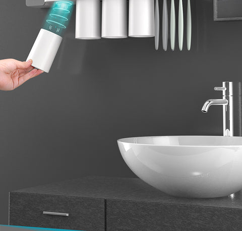 Toothbrush Holder Wall Mounted Bathroom Magnetic Suction Toothpaste