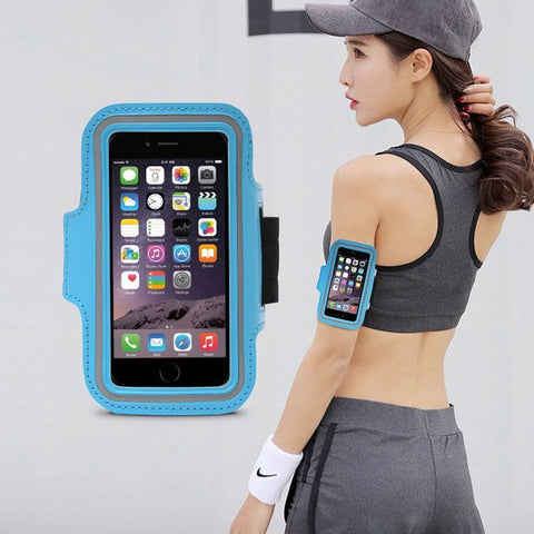 Running Arm Band Phone Holder Cell Armband For Running With Key Pocket