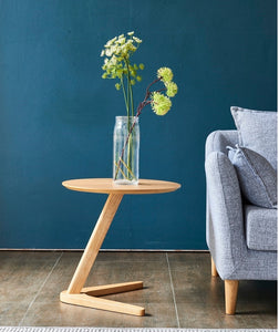 Side Table Small End Tables Round Sofa Side Wooden For Living Room wood