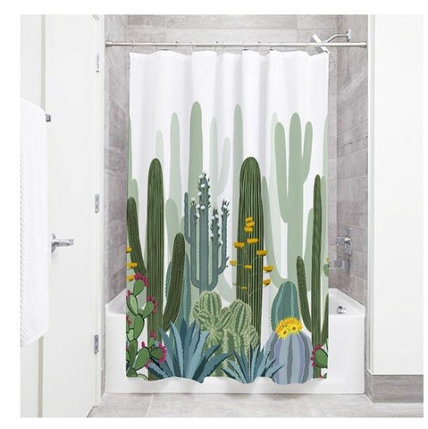 Shower Curtain Extra Long White Black Cool Bathroom Waterproof Curtains luxury
