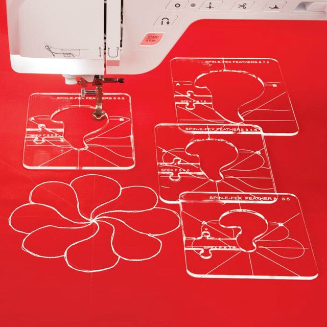 Quilting Template Set – 6 Pieces