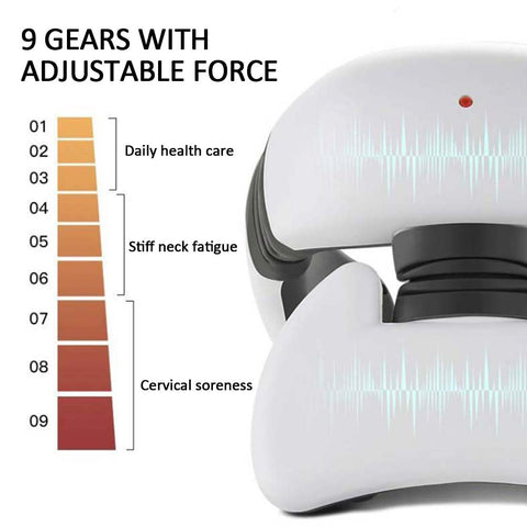 4D Neck Massager Massage Tool Smart Pulse With Remote Control