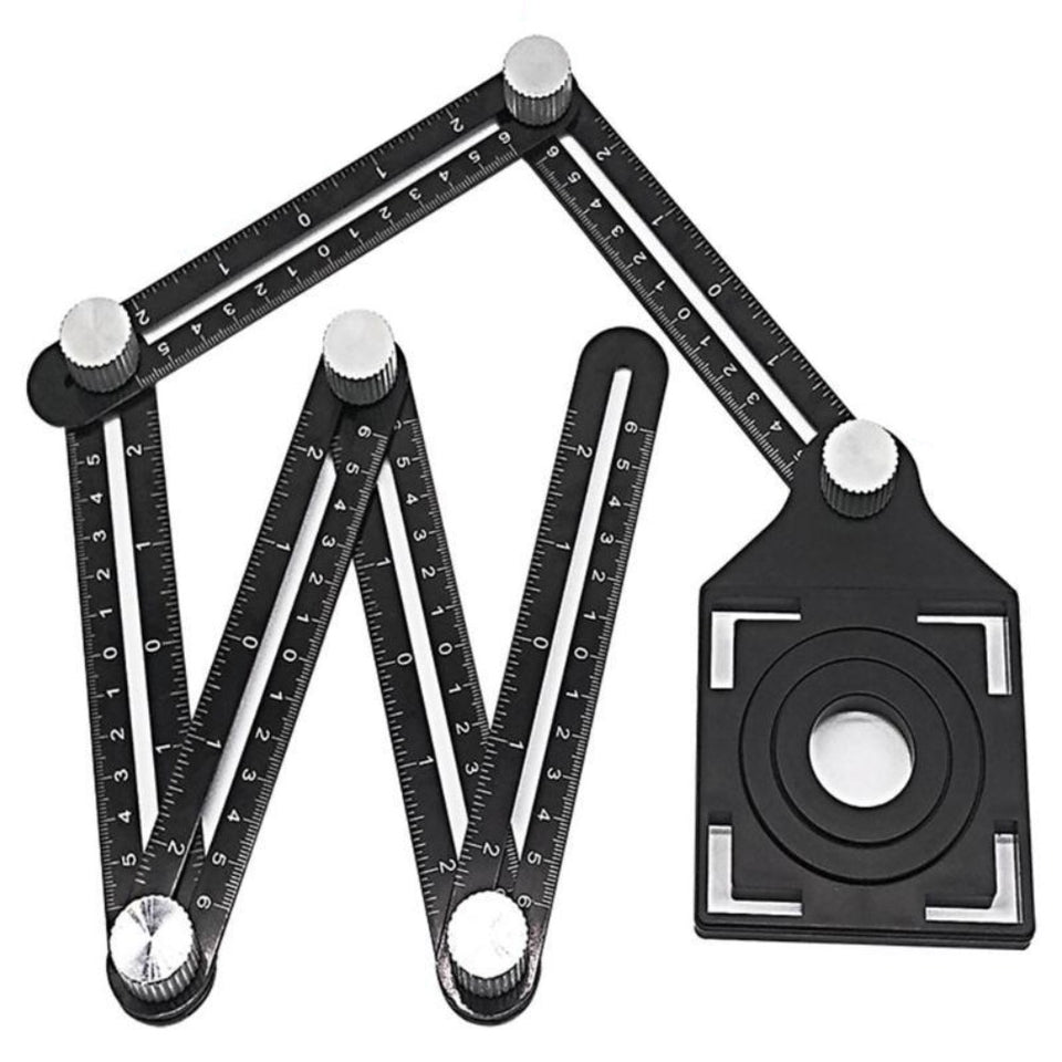 Six-Sided Aluminum Alloy Angle Measuring Tool
