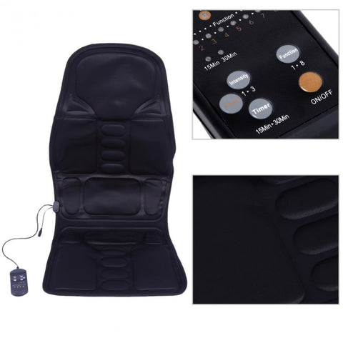 Full Body Massage Chair Paid With Heat Option - Car Seat Massager Mat Electric At Home Therapy Office Cushion