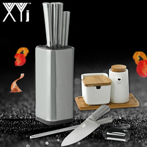 Knife Block Holder Universal Stand Kitchen Best
