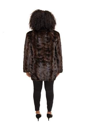 Load image into Gallery viewer, Ranch Mink Fur Paw Zipper Jacket with Full Skin Mink Collar