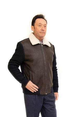 Shearling Jacket with Knitted Back & Sleeves Available Cleveland ETON Chagrin & Akron Summit Mall