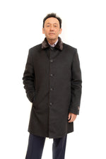 Cashmere/Wool 3/4 Coat Shearling Lined