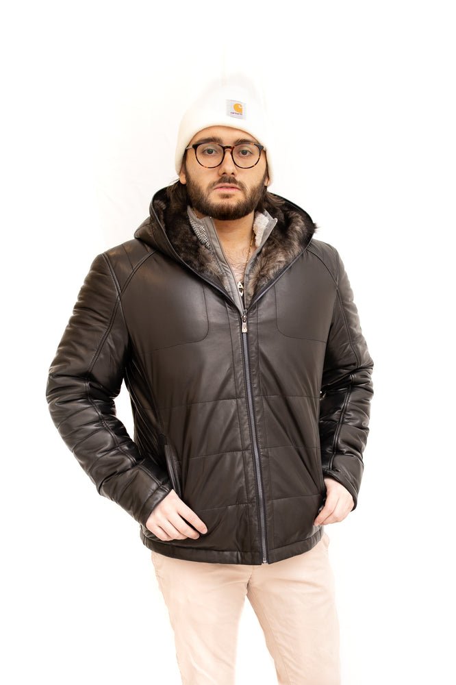 Leather Parka Toscana Fur Lined